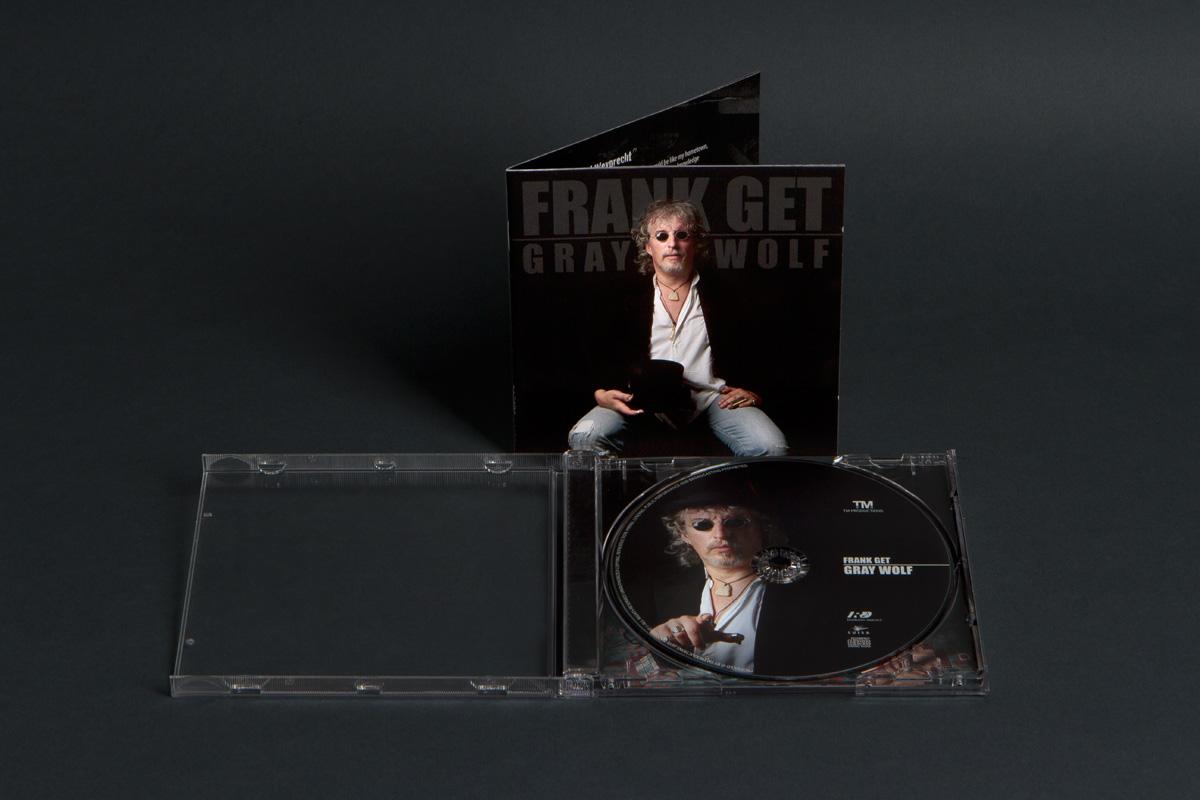 """Copertina del CD di Frank Get """"Gray Wolf"""", 2018. Foto e Grafica di Massimo Goina. STUDIOGOINA.COM"""