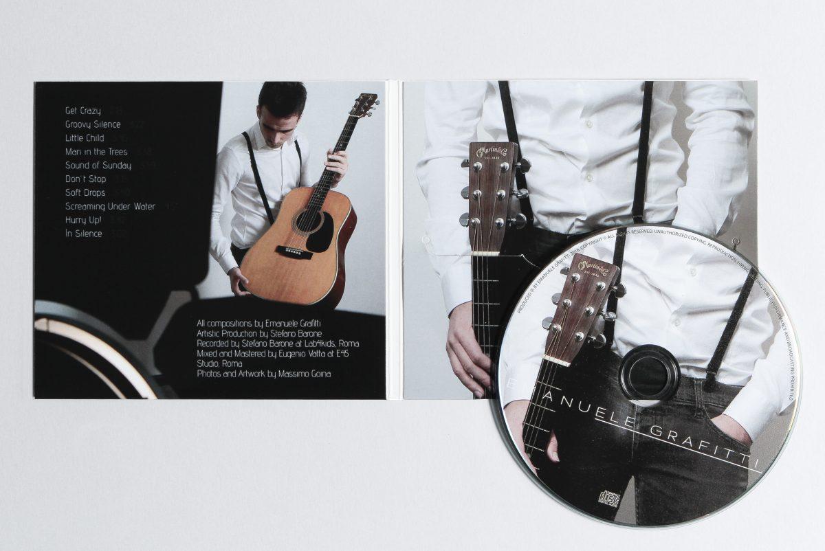 Copertina del CD di Emanuele Grafitti. Foto e Grafica di Massimo Goina. STUDIOGOINA.COM