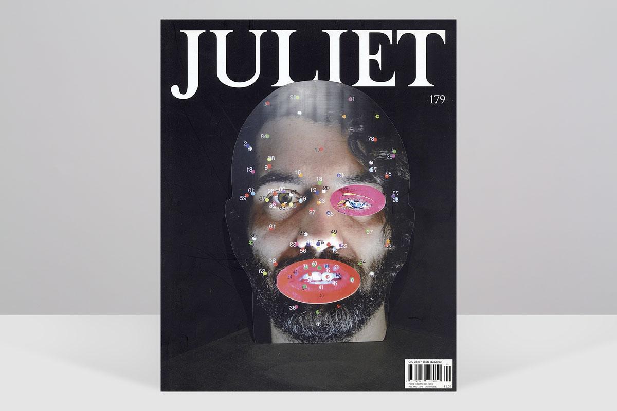 """Rivista JULIET Art Magazine n. 176, giugo 2016. Pubblicità degli eventi de """"L'Energia dei Luoghi"""", Organizzata da CASA CAVE. Grafica e fotografia, Fabiola Faidiga e Massimo Goina."""