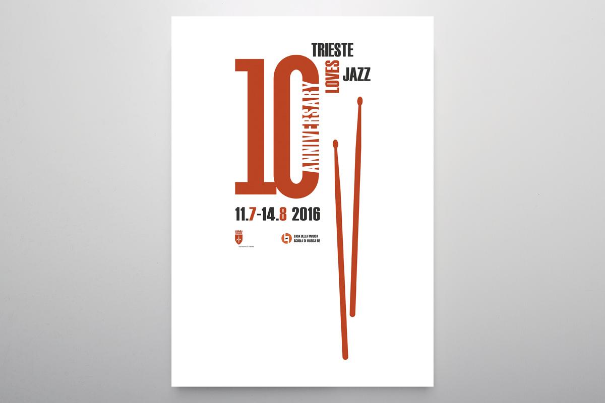 Studio Goina, grafica, fotografia, formazione, Trieste. TriesteLovesJazz 2016. Grafica e foto di Massimo Goina