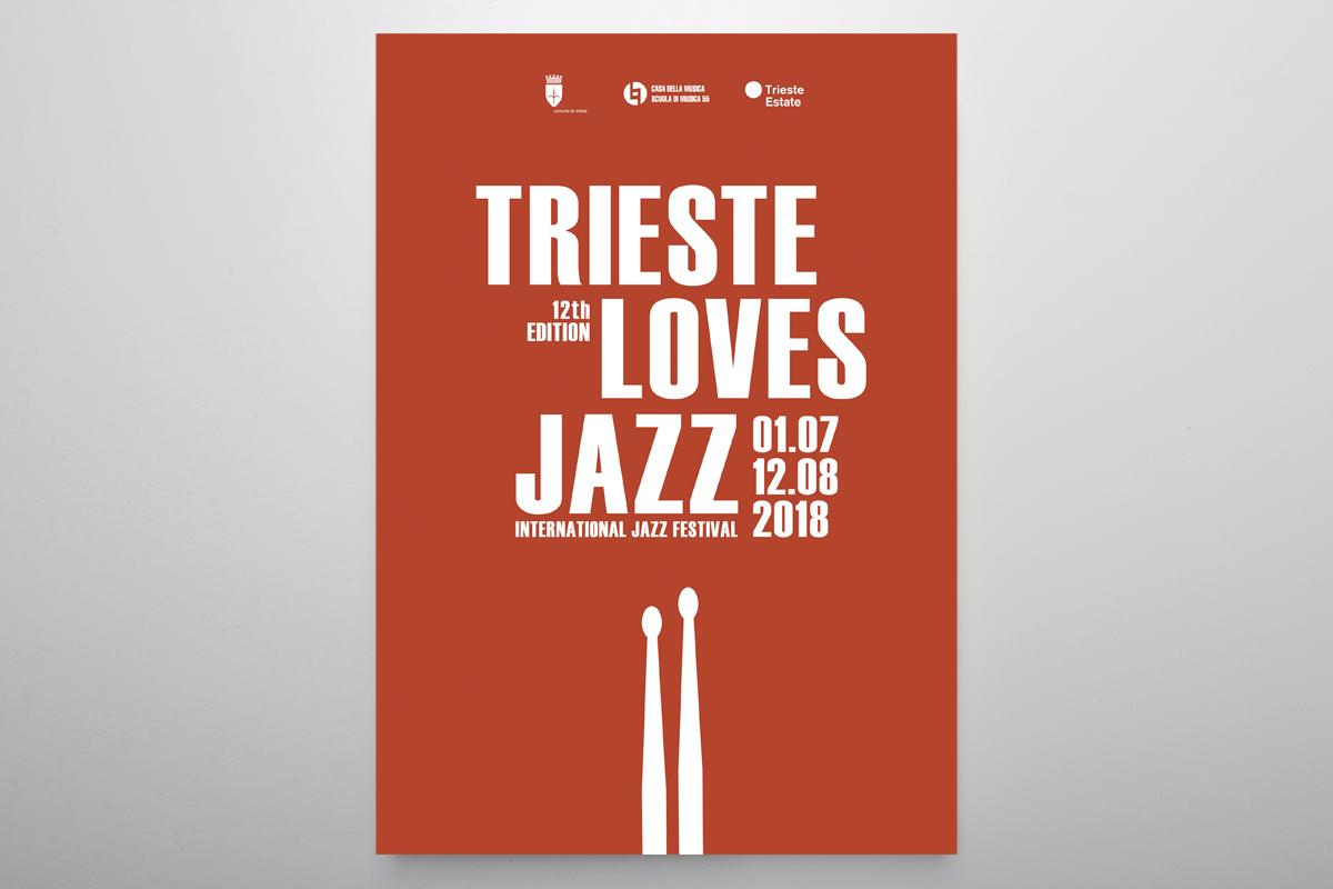 Studio Goina, grafica, fotografia, formazione, Trieste. TriesteLovesJazz 2018. Grafica e foto di Massimo Goina