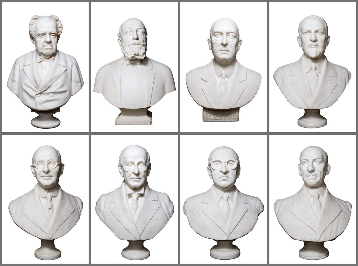 Immagini dei busti in marmo dei Presidenti delle Assicurazioni Generali. Foto di Massimo Goina